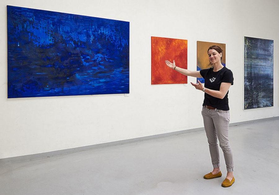 Künstlerin Suntje Teidel im Goerzwerk